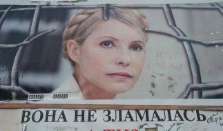 Solidarität mit Timoschenko unweit der  EURO 2012-Fanmeile (Foto)