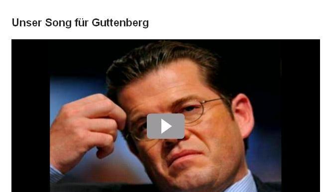 Song für Guttenberg (Foto)