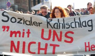 Sozialer Kahlschlag (Foto)