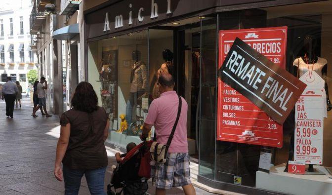 Spaniens Einzelhandelsumsatz bricht ein (Foto)