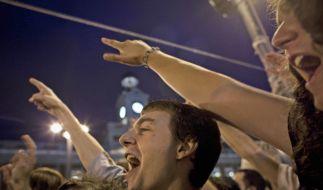 Spaniens Jugend protestiert (Foto)