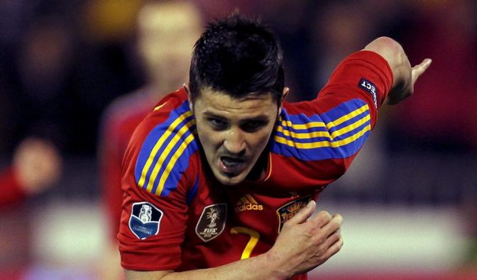 Spaniens Spieler bedauern Villas Absage (Foto)