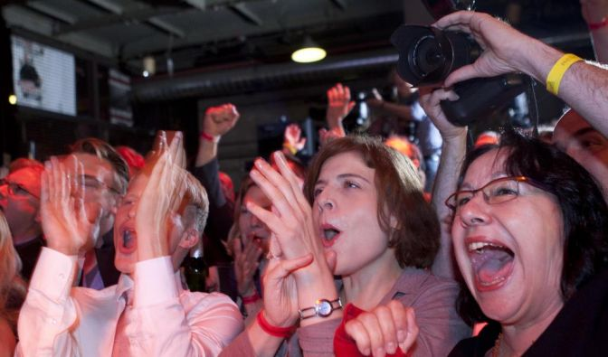 SPD-Anhänger (Foto)