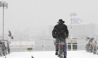 Spikes am Fahrradreifen sind im Winter erlaubt (Foto)