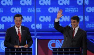 Spitzenreiter Perry bei Republikaner-Duell unter Beschuss (Foto)