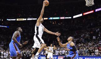 Spurs starten mit Sieg über OKC ins NBA-Halbfinale (Foto)