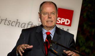 Steinbrück setzt auf die Grünen und rügt SPD-Linke (Foto)