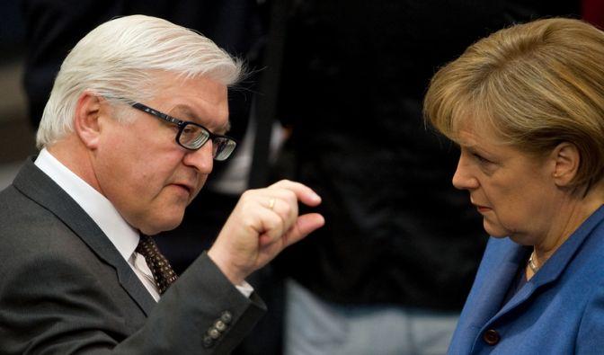 Steinmeier und Merkel (Foto)