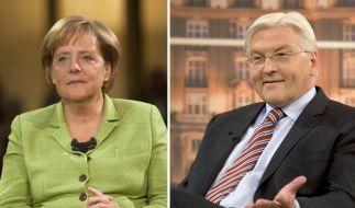 Steinmeier vor TV-Duell «ein wenig aufgeregt» (Foto)