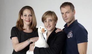 """Stephanie Japp (l.) wirkte 2011 zusammen mit Justus Kammerer und Hinnerk Schönemann in der Verfilmung von """"Nils Holgerssons wunderbare Reise"""" mit. (Foto)"""