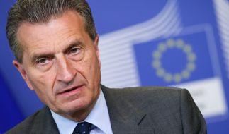 Stichelt weiter gegen AfD-Chefin Frauke Petry: EU-Kommissar Günther Oettinger. (Foto)