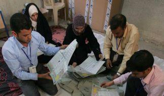 Stimmenauszählung im Irak läuft (Foto)
