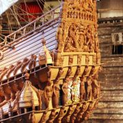 Das Kriegsschiff Vasa sank 1628 in Stockholm.