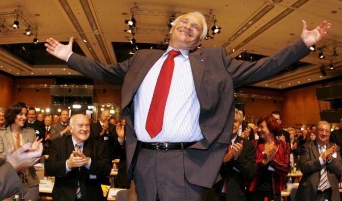 Stoiber im Wahlkampf (Foto)