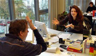 Streit im Büro. (Foto)