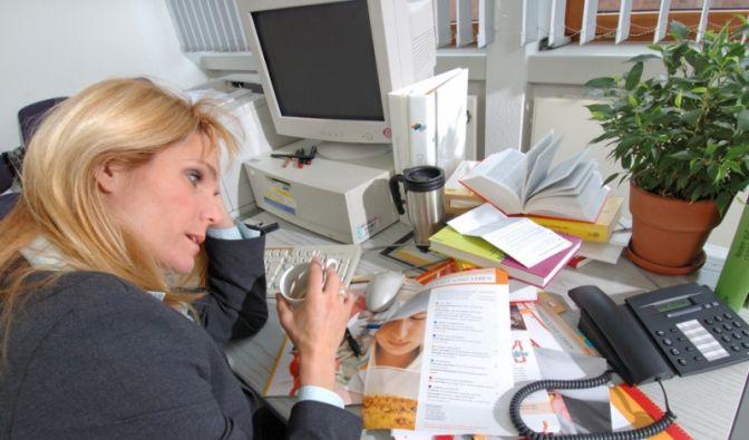 Stress im Büro (Foto)