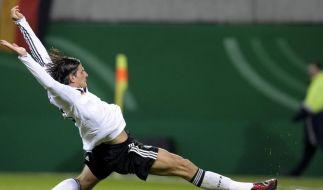 Stürmer Mario Gomez mühte sich redlich, traf aber wieder nicht. (Foto)
