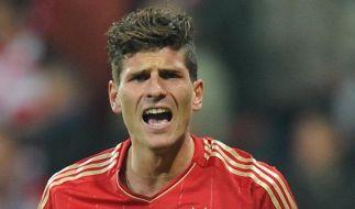 Stürmer Mario Gomez wird den Bayern vorerst fehlen. (Foto)