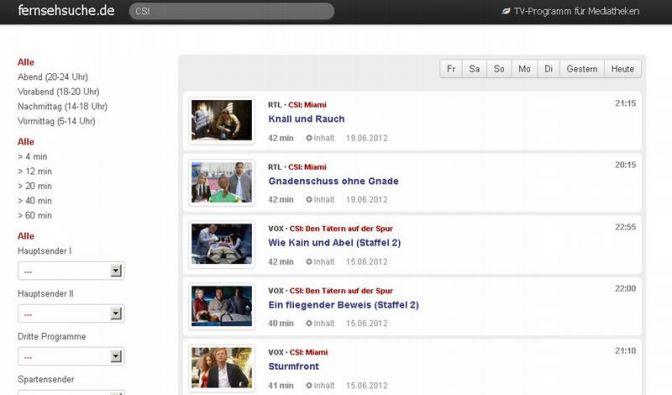 Suchmaschine für Mediatheken im Netz (Foto)