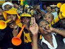 Südafrikansichen Fans. (Foto)