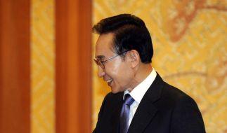 Südkoreas Präsident unterstützt Olympia-Delegation (Foto)