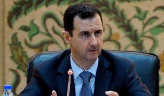 Syriens Präsident Assad sieht sein Land im Kriegszustand (Foto)