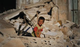 Syrische Kinder werden von beiden Kriegsparteien missbraucht, berichten die Vereinten Nationen. (Foto)