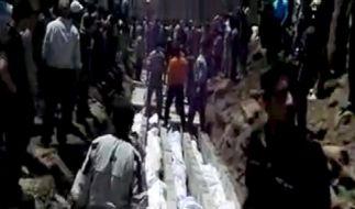 Syrisches Regime bestreitet Schuld an Massaker (Foto)