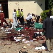 Tatort eines Selbstmordattentats durch Boko Haram in Zaria, Nord-Nigeria, am 7. Juli 2015. (Foto)