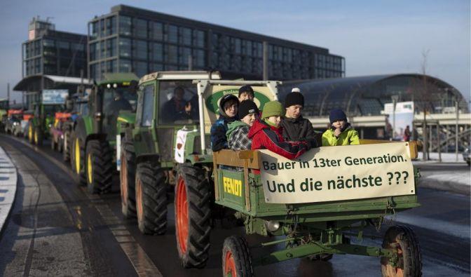 Tausende demonstrieren in Berlin fuer Öko-Landwirtschaft (Foto)