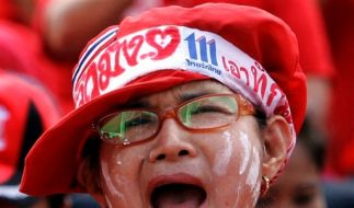 Thailand Rote Thaksin Shinawatra (Foto)