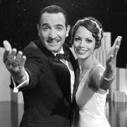 Machen sich gegenseitig das Rampenlicht streitig: Stummfilmstar George Valentin (Jean Dujardin) und Starlet Peppy Miller (Bérénice Bejo).