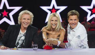 Thomas Gottschalk, Michelle Hunziker und Dieter Bohlen bilden die neue Jury der RTL-Show Das Supertalent. (Foto)