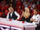 Thomas Gottschalk, Michelle Hunziker und Dieter Bohlen sind von den neuen Talenten begeistert. (Foto)