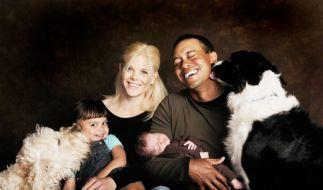 Tiger Woods und seine Familie (Foto)