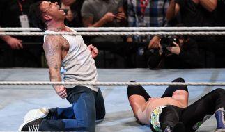 Time Wiese feiert ein gelungenes Wrestling-Debüt. (Foto)