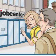 Titelbild der kritisierten Hartz-IV-Broschüre des Jobcenters Pinneberg mit schrägen Spartipps.