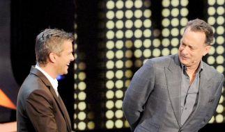 Tom Hanks wundert sich über das Konzept von Wetten, dass..?. (Foto)