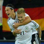 Torschütze Marco Reus und Mesut Özil harmonierten hervorragend - und zeigten ihre Spielfreude.