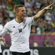 Treffer im 100. Länderspiel: Lukas Podolski erzielte sein 44. Länderspieltor.