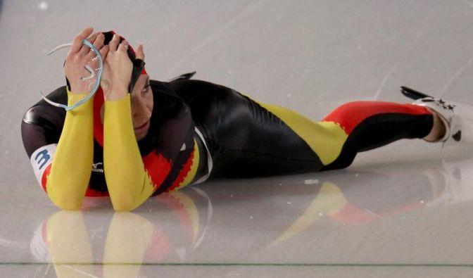 Trotz Bauchlandung: Gold für Eisschnellläuferinnen (Foto)