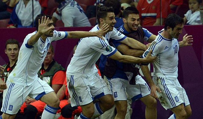 Tschechen und Griechen im EM-Viertelfinale (Foto)