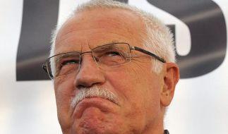 Tschechiens Präsident Vaclav Klaus steht dem EU-Reformvertrag extrem skeptisch gegenüber. (Foto)