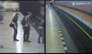 Fiese Attacke in der U-Bahn