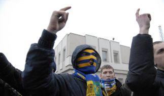 Ukrainische Hooligans (Foto)