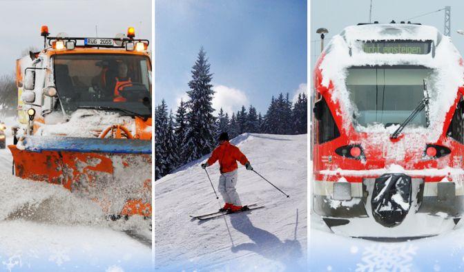 Unfälle, Skispaß und Streupflicht: Der Winter hat viele Seiten. (Foto)