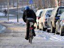 Ungeräumte Radwege (Foto)