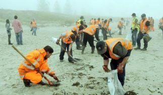 Unglücksfrachter vor Neuseeland evakuiert (Foto)