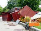 Unwetter verwüstet Marktstände am Bodensee (Foto)