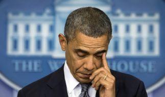 US-Präsident Barack Obama kämpft bei seiner Rede zum Massaker an einer US-Grundschule mit den Tränen. (Foto)
